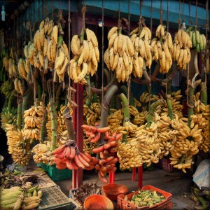 Banana stand in Trivandrum market