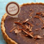 Birthday break & chocolate, hazelnut and salted caramel tart