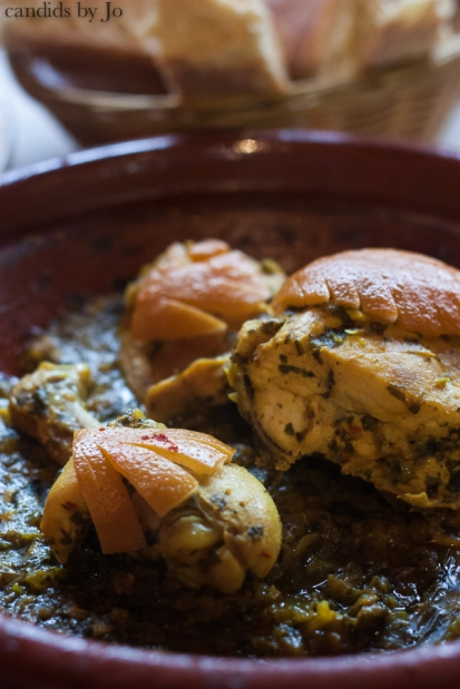 Chicken tagine with preserved lemons