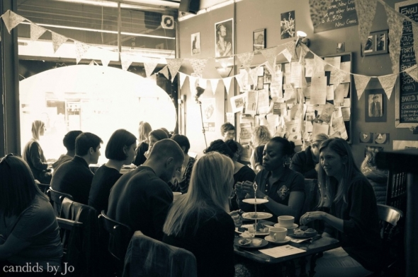 Happy diners at Cafe Crema
