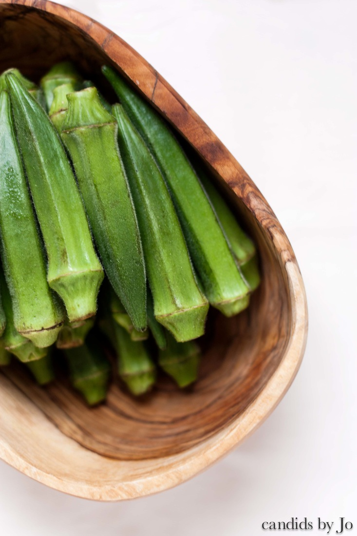 sitting pretty: okra
