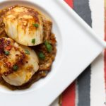Sri Lankan scallop curry & a food portrait