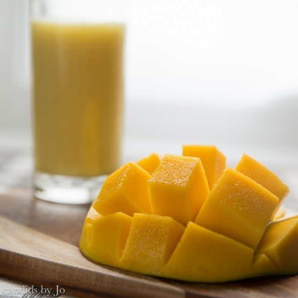Mango and coconut milk shake