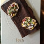Fera at Claridge's amuse bouche