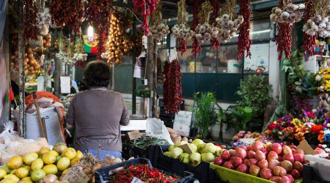 Bolhão-Market-fruit-stall-Portugal-photo