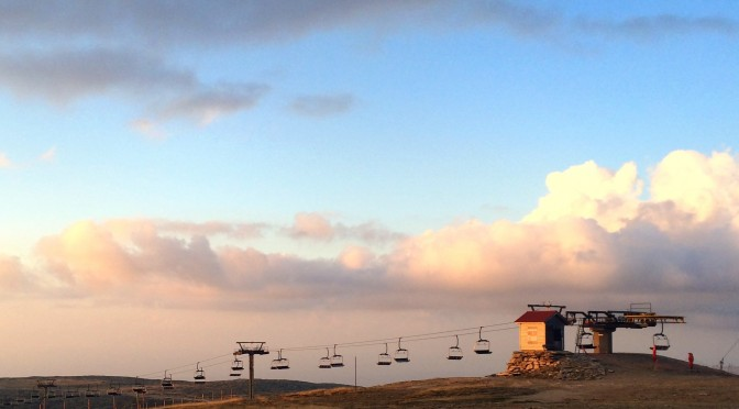 Sunset at Portugal's highest point, almost 2000 meters in altitude.