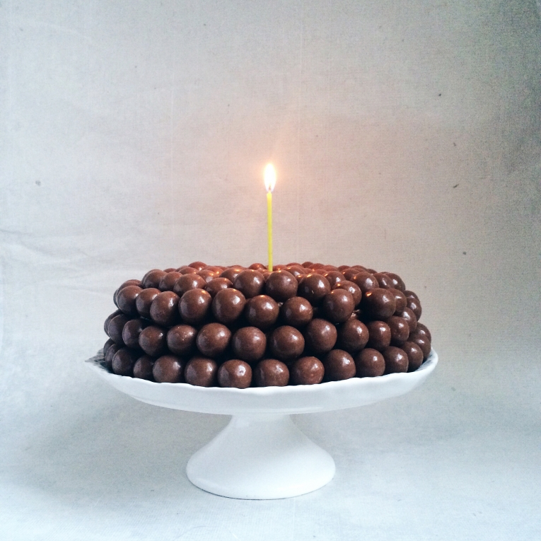 Chocolate cake with mocha frosting and Maltesers cake