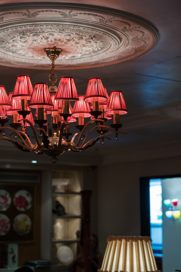 Sofitel St James the Rose Lounge chandelier London