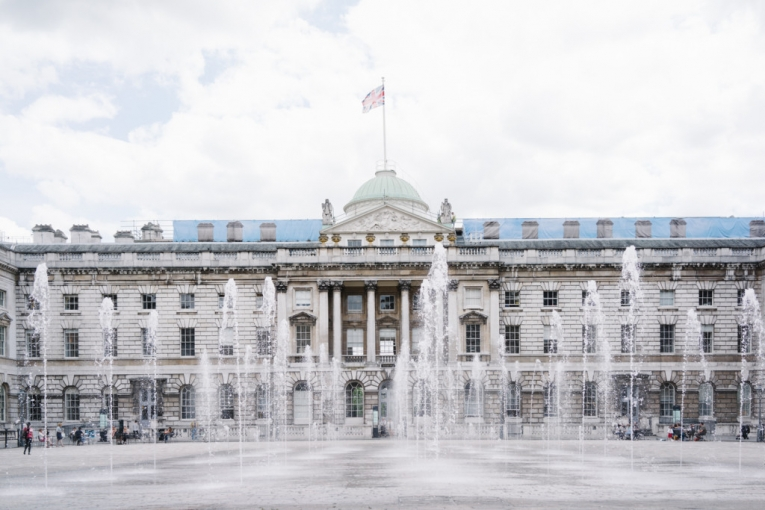 Somerset House courtyard fountain London