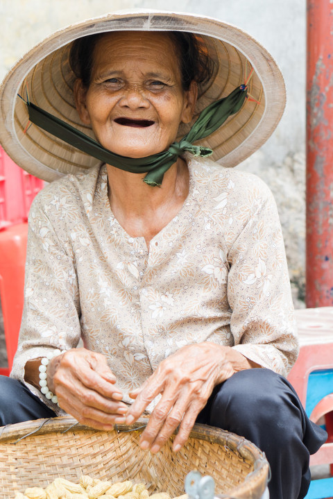 Faces of Vietnam elderly portrait