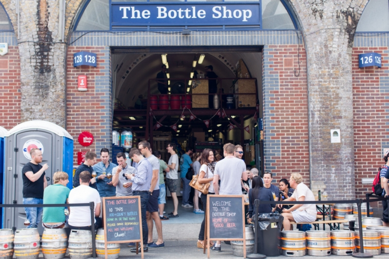 London The Bottle Shop Druid St Market