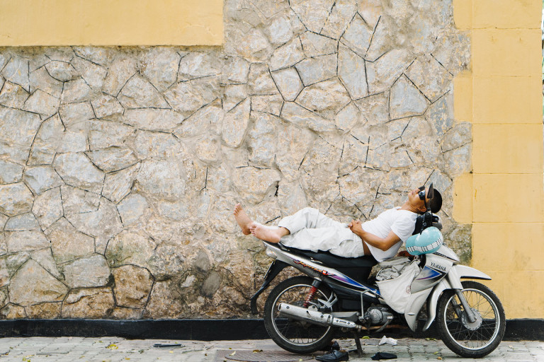 Siesta in Vietnam on motorcycle