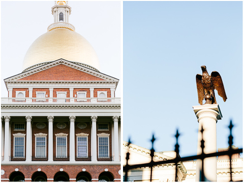 Massachusetts State House golden dome eagle