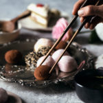 Japanese inspired afternoon tea with mochi