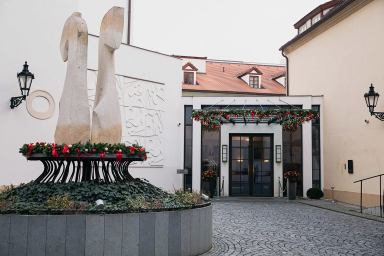 How prague does christmas inside the augustine hotel for Augustine hotel prague