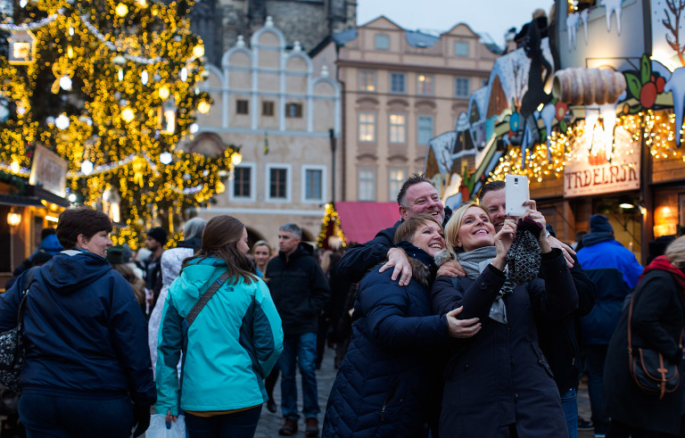 Prague Christmas Market selfies photo