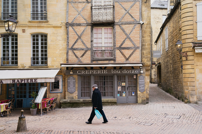 Medieval town of Sarlat in the Dordogne Valley photo