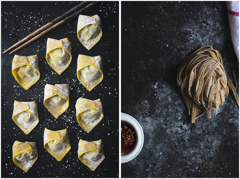 How to make homemade shrimp and chive wonton noodle soup