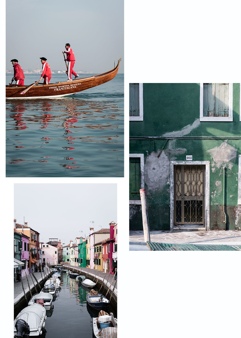 Burano scenes collage
