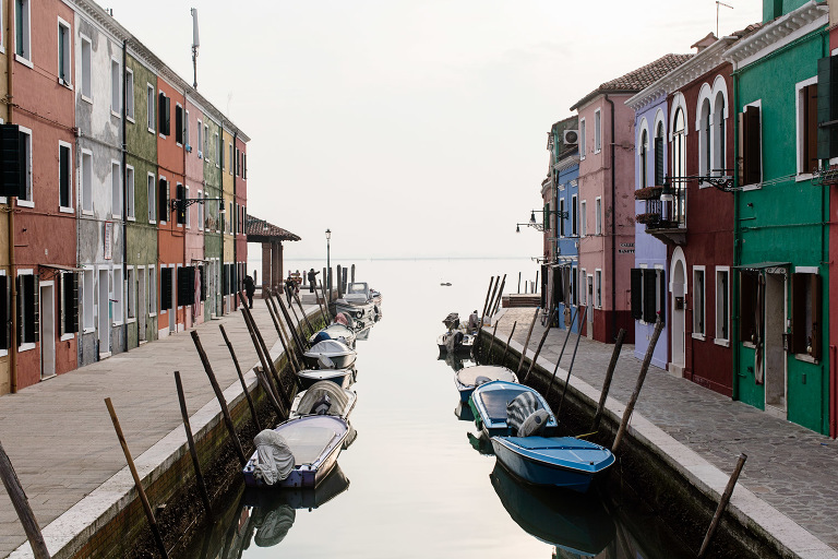 colorful Burano island, Venice photo