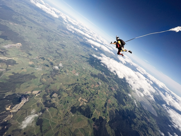 Tandem skydiving Bay of Islands New Zealand photo