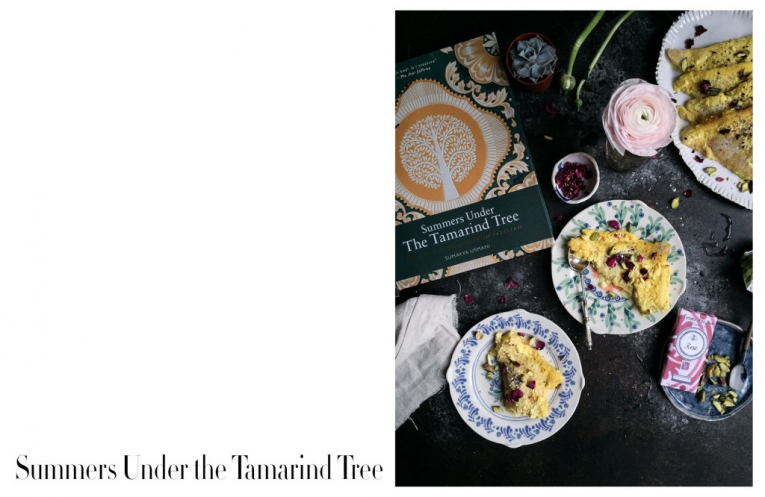 Summers Under the Tamarind Tree - saffron bread pudding