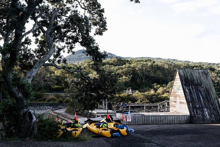 Sea Kayaks on Rangitoto Island, Auckland New Zealand photo