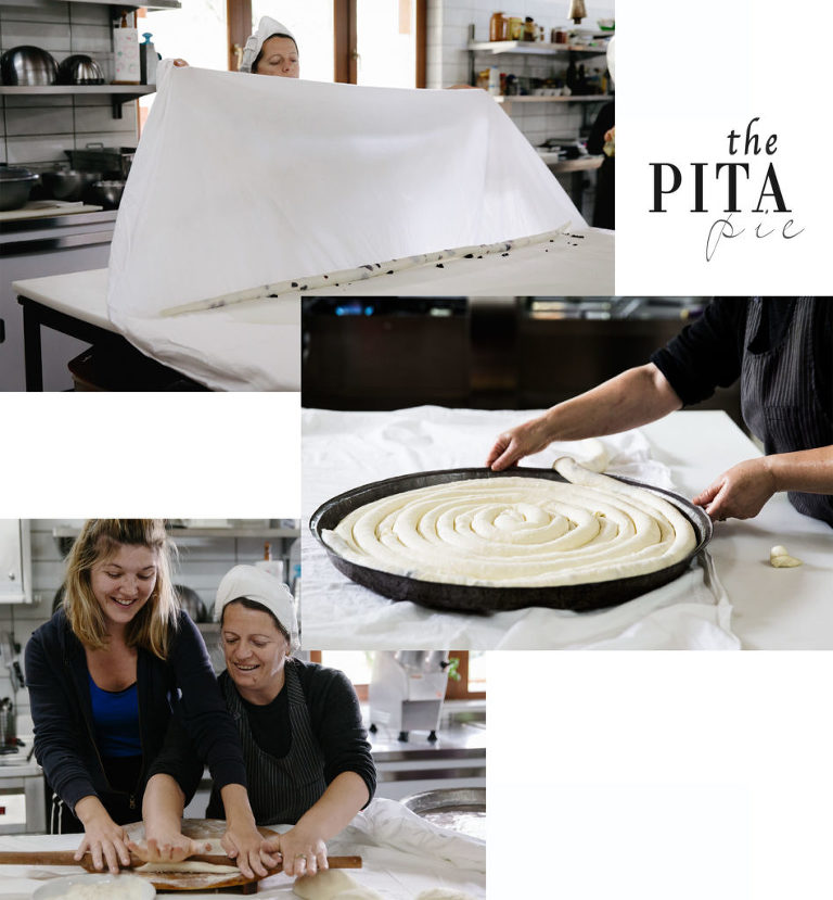 Making Macedonian pita pie photo