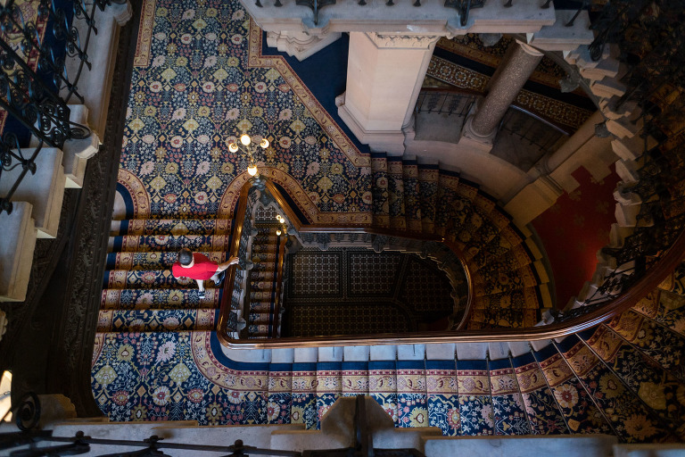 St Pancras Hotel Grand Staircase tiles photo