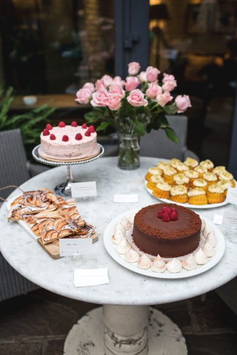 Creating for Good fundraising auction at London's Hoxton Hotel with homemade cakes provided by Juliet Oscar Yankee