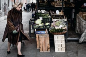Venice Rialto Market food shopping photo
