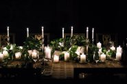 Candlelit dining table photo