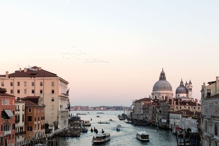 Venice grand canal Santa Maria della Salute photo
